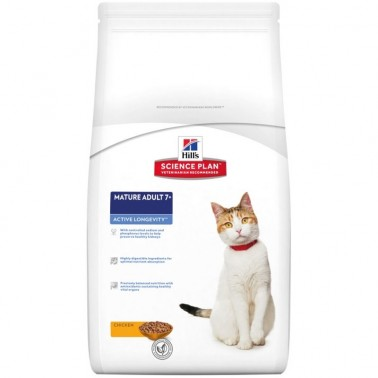 HILLS SCIENCE PLAN FELINE MATURE ADULT 7+ POLLO
