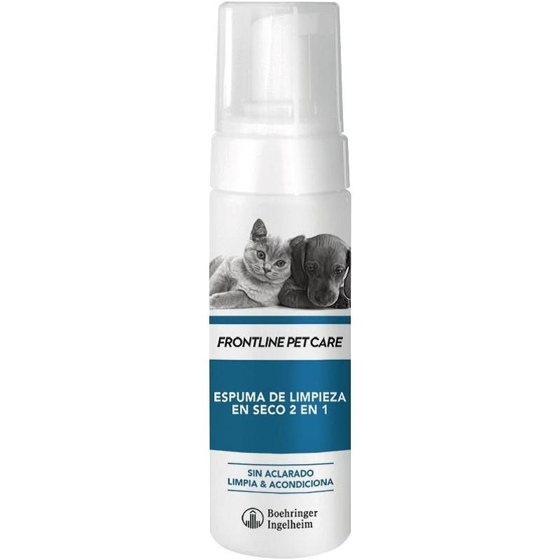 FRONTLINE CHAMPU ESPUMA SECA 2 EN 1 150 ml Para perros y Gatos