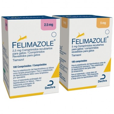 FELIMAZOLE  100 Comprimidos Hipotiroidismo en gatos