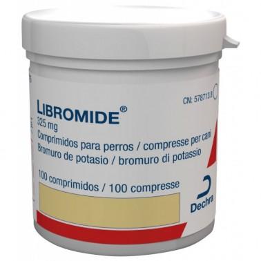LIBROMIDE 325 mg Antiepiléptico 100 Comprimidos para Perros