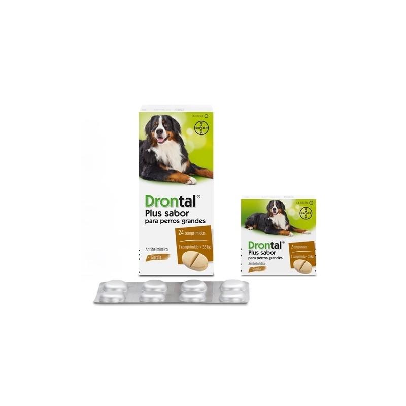 DRONTAL PLUS SABOR PERRO Grande Comprimidos desparasitar perros