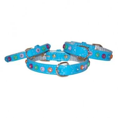 Collar Charol con diamantes de color 1,5 x 30 cm