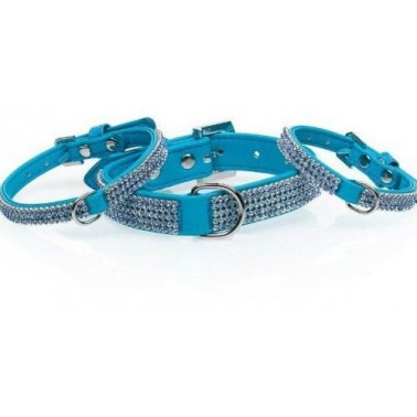 Collar Serie Diamond Azul 30 X 1 Cm