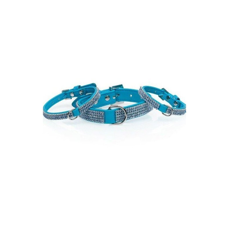 Collar Serie Diamond Azul 30 X 1 Cm