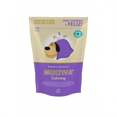 MULTIVA CALMING MEDIUM & LARGE 21 CHEWS VETNOVA