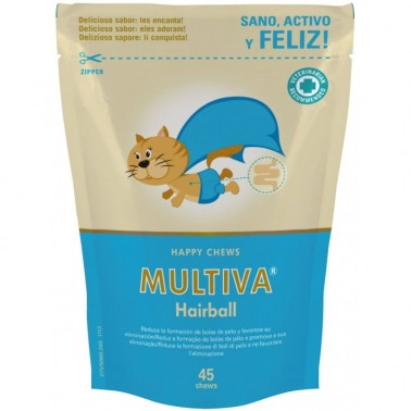 MULTIVA HAIRBALL 45 CHEWS VETNOVA