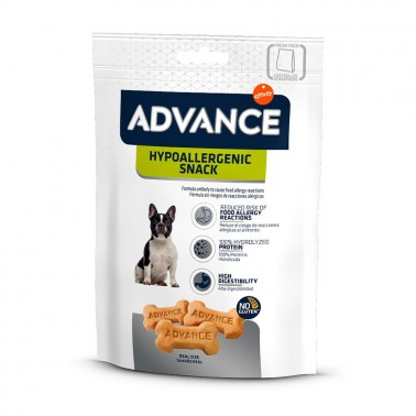 Advance Hypoallergenic Treat 150g Snack para perros con alergias alimentarias, de Advance.