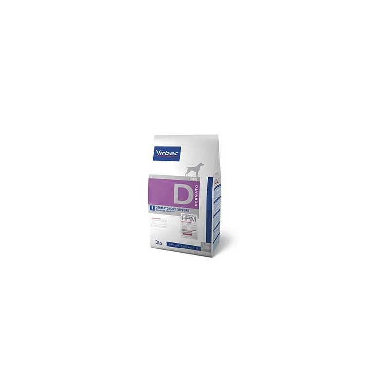 HPM PERRO D1 DERMATOLOGY SUPPORT VIRBAC 7kg
