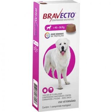 BRAVECTO MASTICABLE PERRO GRANDE 40-56 KGR 1 Comprimido Antiparasitario para perros