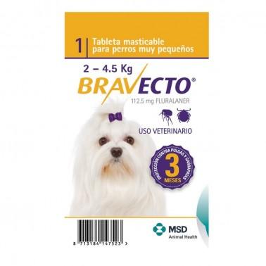 BRAVECTO MASTICABLE PERRO 1 Comprimido Antiparasitario para perros