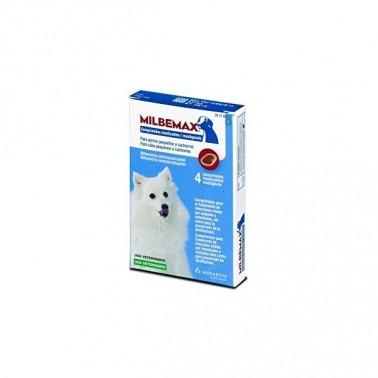 Milbemax Masticable 2,5 (0,5-5 kg) , 4 comprimidos.