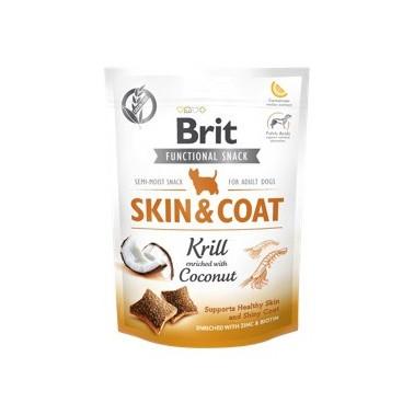 BRIT CARE SNACK SKIN&COAT PERRO ADULTO CON KRILL DE 150g