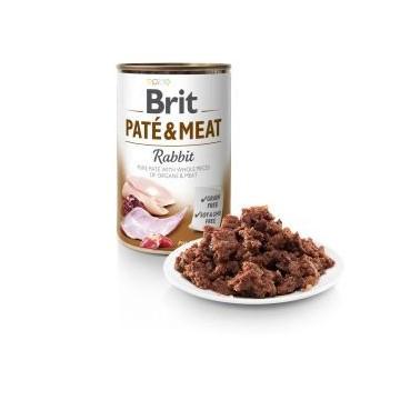 BRIT PATÉ & MEAT PERRO ADULTO CON CONEJO 400g