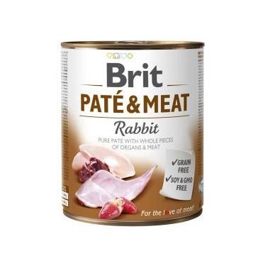 BRIT PATÉ & MEAT PERRO ADULTO CON CONEJO DE 800g