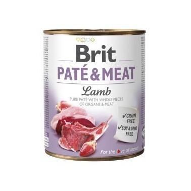 BRIT PATÉ & MEAT PERRO ADULTO CON CORDERO DE 800g