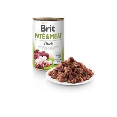 BRIT PATÉ & MEAT PERRO ADULTO CON PATO DE 400g