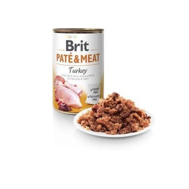 BRIT PATÉ & MEAT PERRO ADULTO CON PAVO LATA DE 400g