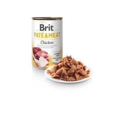 BRIT PATÉ & MEAT PERRO ADULTO CON POLLO LATA DE 400g
