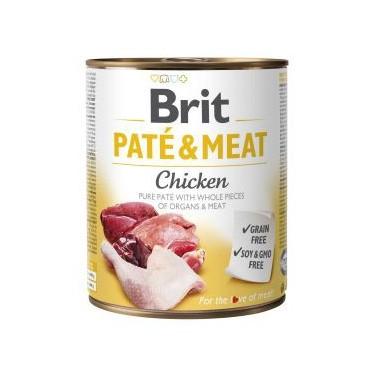 BRIT PATÉ & MEAT PERRO ADULTO CON POLLO LATA DE 800g