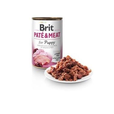 BRIT PATÉ & MEAT PERRO PUPPY CON POLLO Y PAVO LATA DE 800g