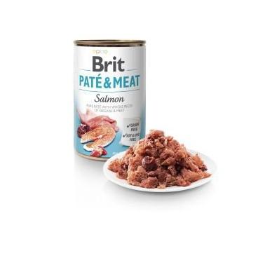 BRIT PATÉ & MEAT PERRO ADULTO CON SALMÓN LATA DE 400g