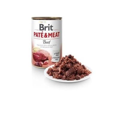 BRIT PATÉ & MEAT PERRO ADULTO CON TERNERA LATA DE 400g