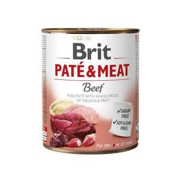 BRIT PATÉ & MEAT PERRO ADULTO CON TERNERA LATA DE 800g