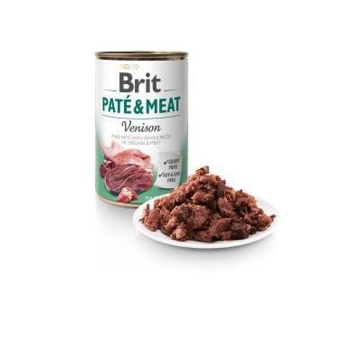 BRIT PATÉ & MEAT PERRO ADULTO CON VENADO LATA DE 400g