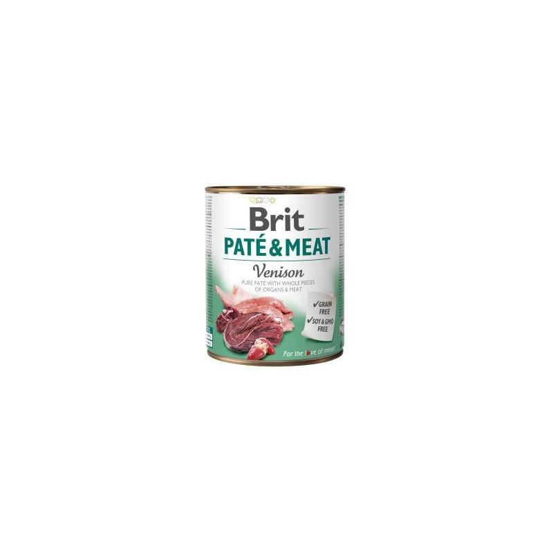 BRIT PATÉ & MEAT PERRO ADULTO CON VENADO LATA DE 800g
