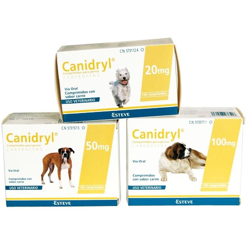 CANIDRYL PALATABLE ECUPHAR 140 comprimidos