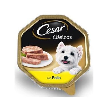 CESAR CLÁSICO PERRO PATÉ CON POLLO TARRINA DE 150g