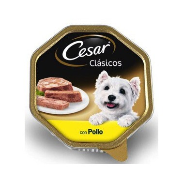 CESAR CLÁSICO PERRO PATÉ CON POLLO TARRINA DE 300g