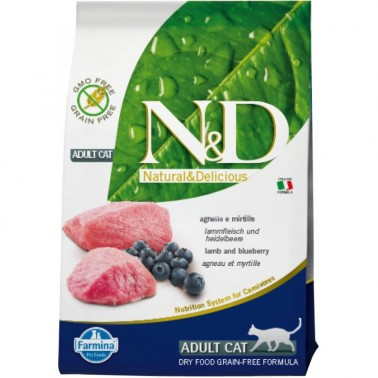 N&D G. FREE ADULT CAT CORDERO & ARÁNDANO
