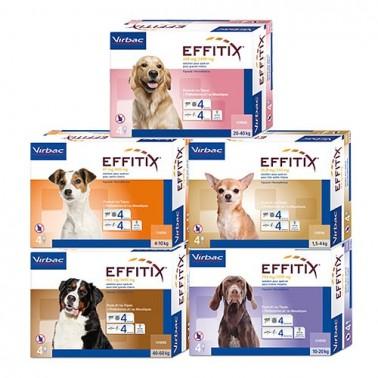 Effitix  Pipetas antiparasitarias para perros