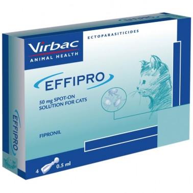 EFFIPRO GATO 50 mg Pipetas Antiparasitarias para Gatos