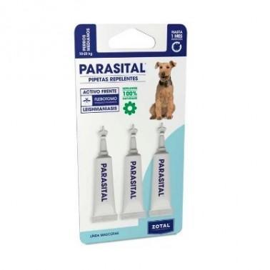 PARASITAL PIPETAS PERROS 10-25 kg 3 pipetas Antiparasitario Externo