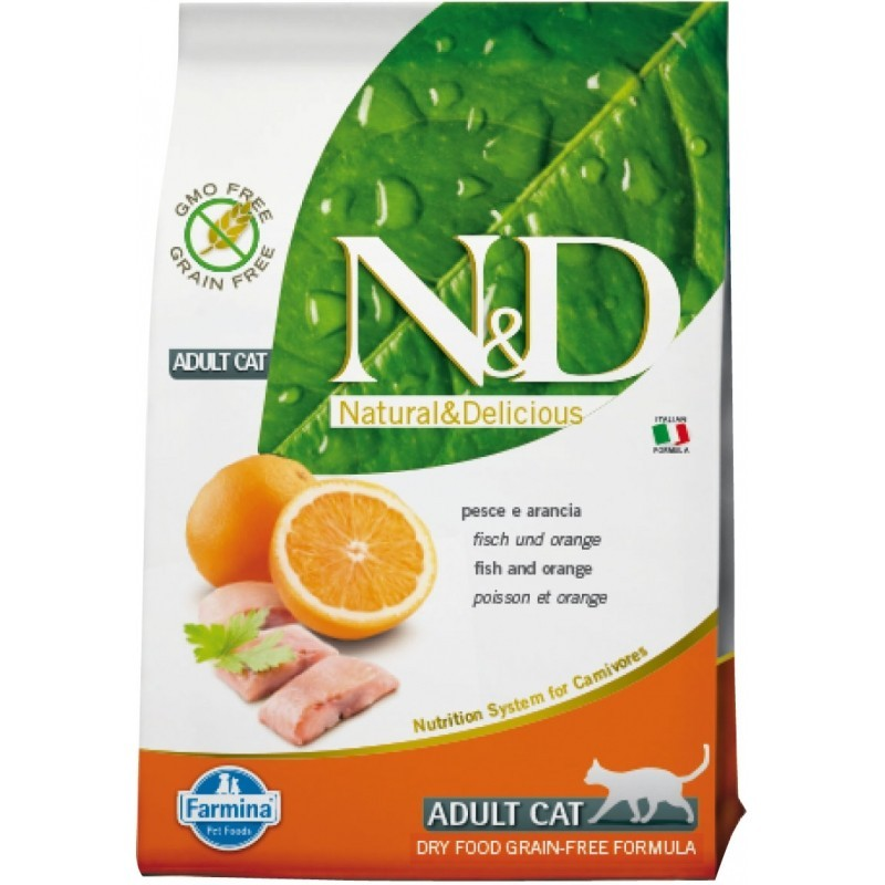 FARMINA N&D G. FREE ADULT CAT PESCADO & NARANJA