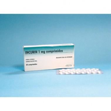 INCURIN 30 Comprimidos Incontinencia Urinaria en perras